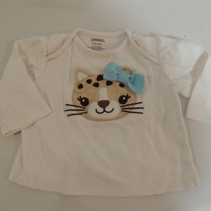 Gymboree girls long sleeved tee size 3-6 mos